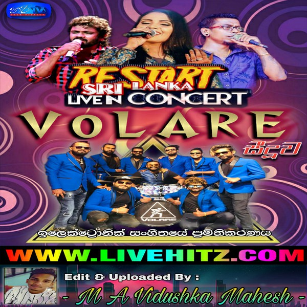Restart Sri Lanka Live In Concert With Volare 2020 Live Show Image